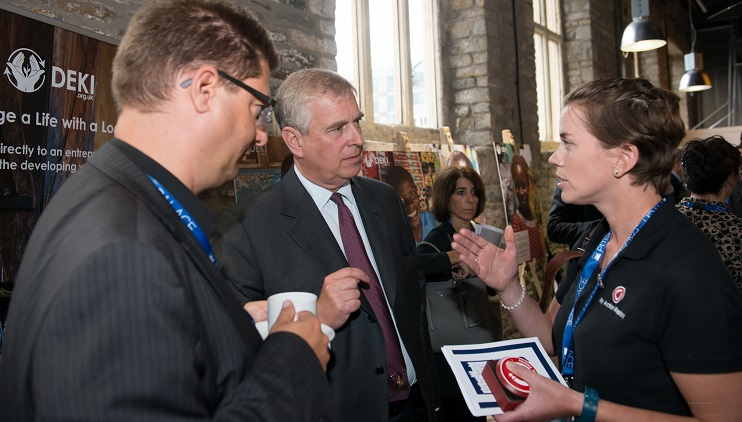 HRH Prince Adnrew Attends Engine Shed Bristol for Pitch At Palac