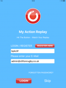 Login with My Action Replay