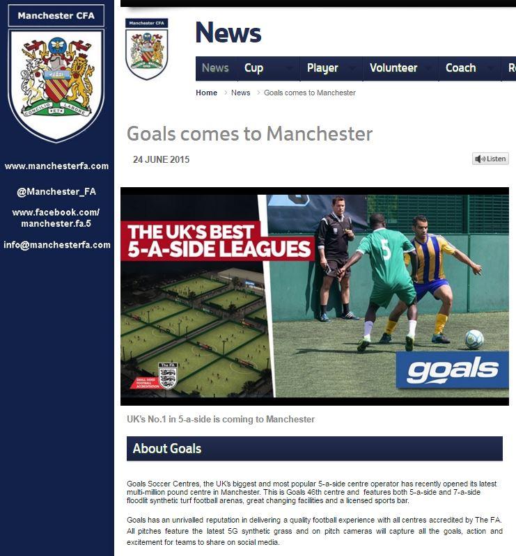 Goals Manchester FA