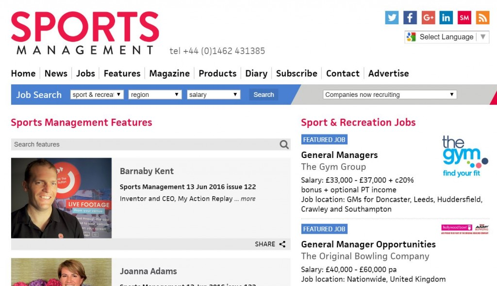 Sports Management Jun 16 1