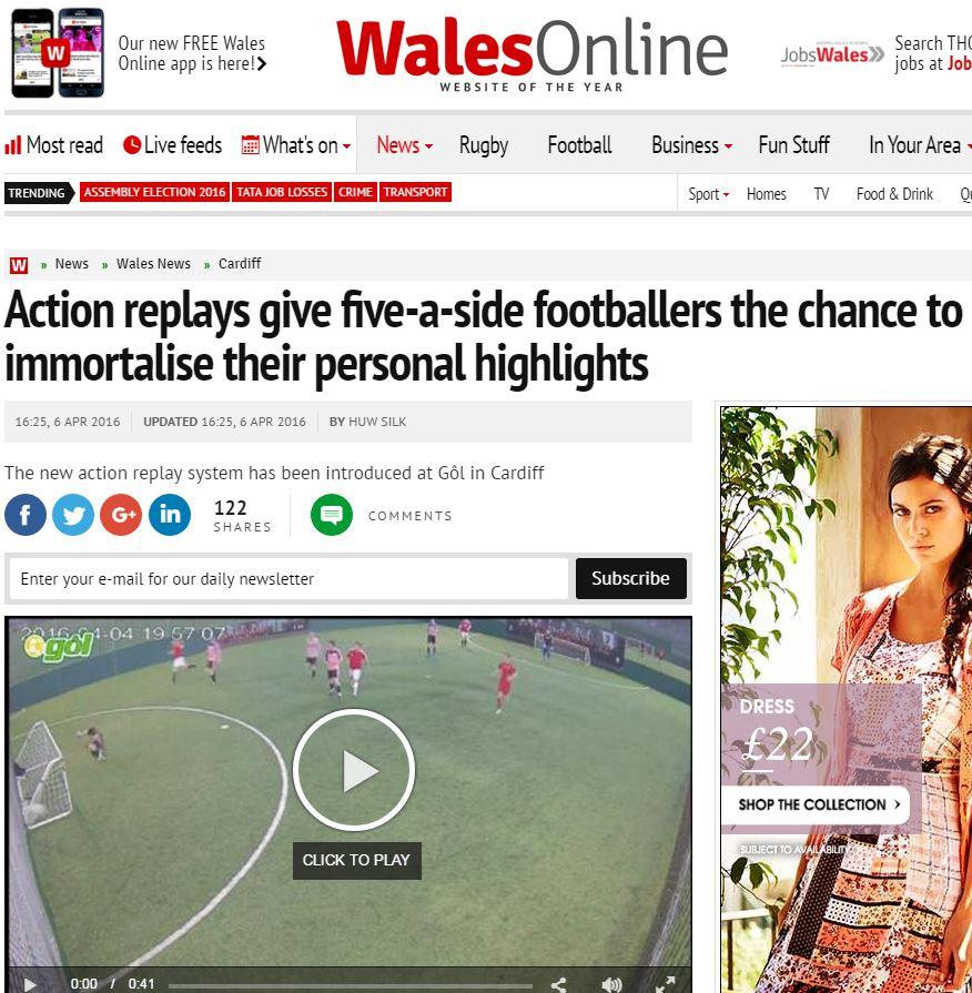 Wales Online Gol Cardiff
