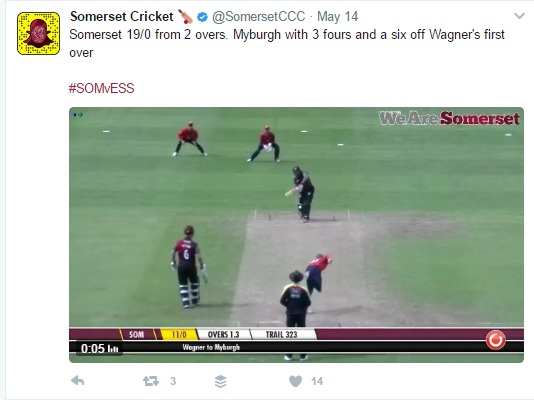 MAR replay at Somerset CCC